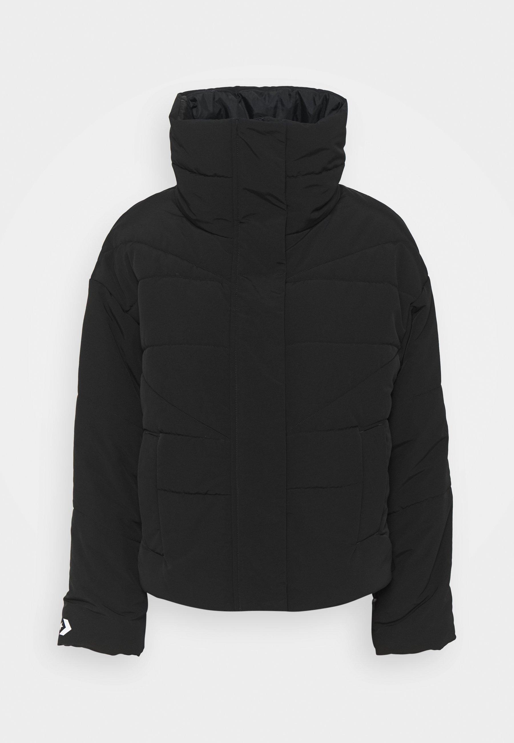 FUNNEL NECK PUFFER JACKET - Winter jacket - converse black