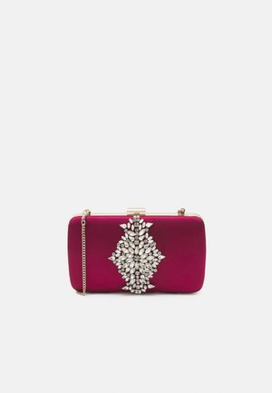 SAMANTHA EMBELLISHED BOX - Clutch - deep red
