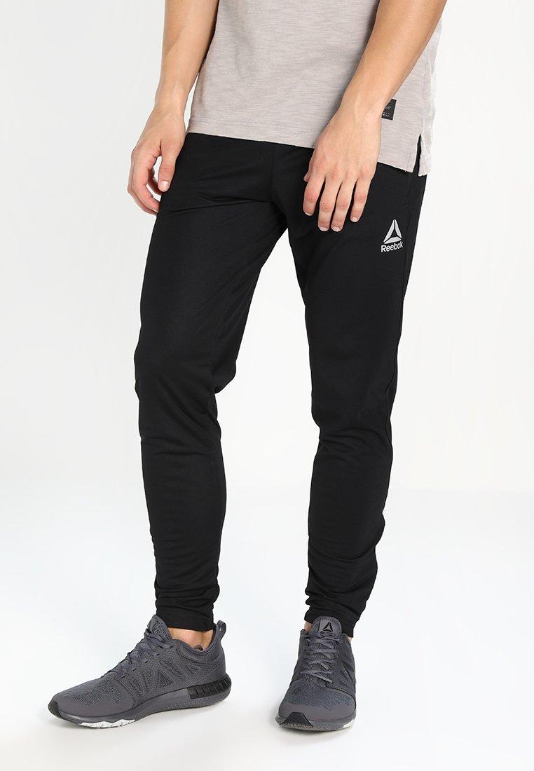 Reebok - TRAINING TRACK PANTS - Tracksuit bottoms - black