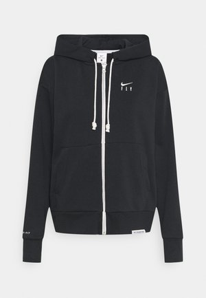 STANDARD ISSUE HOODIE - Zip-up hoodie - black/pale ivory