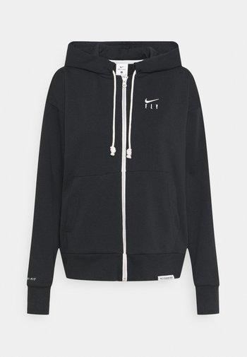 STANDARD ISSUE HOODIE - Zip-up sweatshirt - black/pale ivory