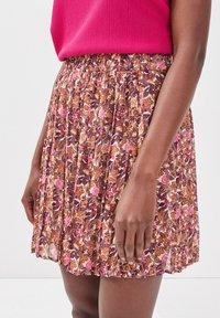Cache Cache - A-line skirt - brown - 2