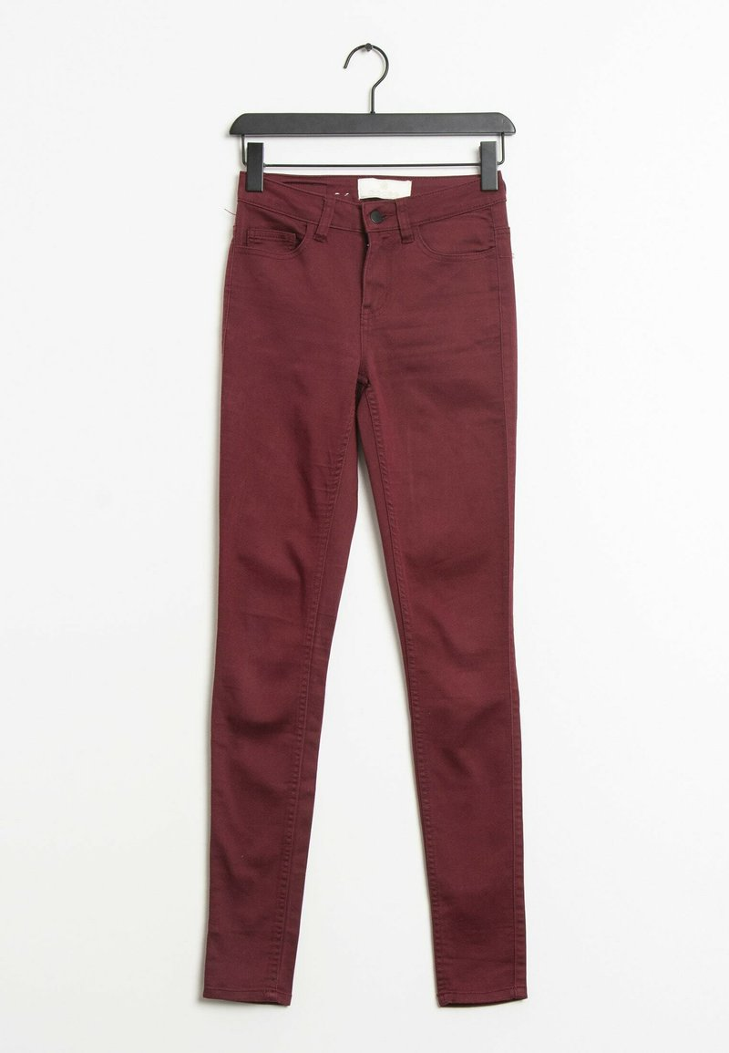 Pieces - Trousers - red