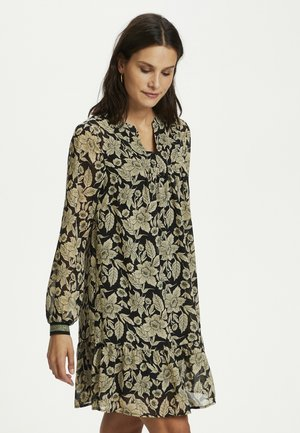 BPKALI - Tunic - black / light flowers print