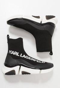 KARL LAGERFELD - VENTURE - Sneakersy wysokie - black/white - 1
