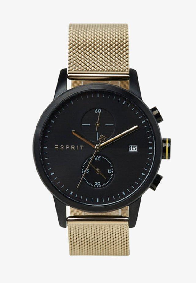 Chronograph watch - gold black