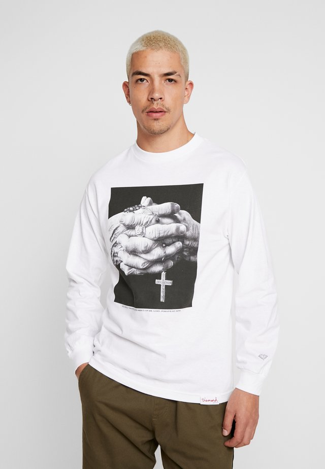 MERCY TEE - Long sleeved top - white