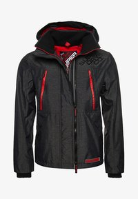 Superdry - HOODED POLAR WIND ATTACKER - Training jacket - charcoal - 6