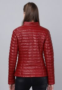 Basics and More - Leather jacket - red - 1