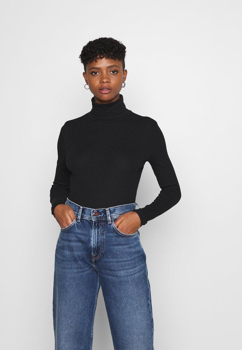 Even&Odd - 2 PACK - Long sleeved top - black/grey