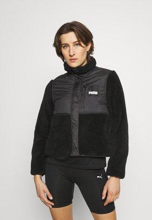 HYBRID - Fleece jacket - black