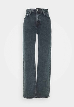HIGH RISE LOOSE - Jeans relaxed fit - washed blue/black