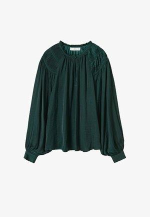 MET POFMOUWEN - Blouse - groen