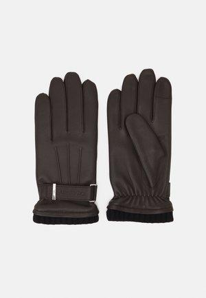 RIVET GLOVES - Gloves - dark brown