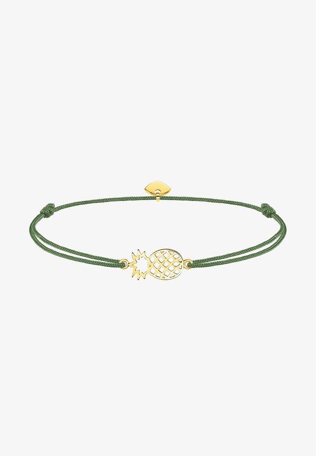 Armband - grün, gelbgoldfarben