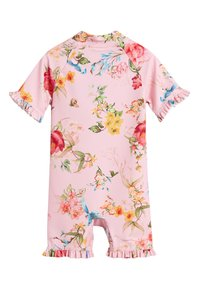 Next - PINK FLORAL SUNSAFE SUIT (3MTHS-7YRS) - Plavky - pink - 1