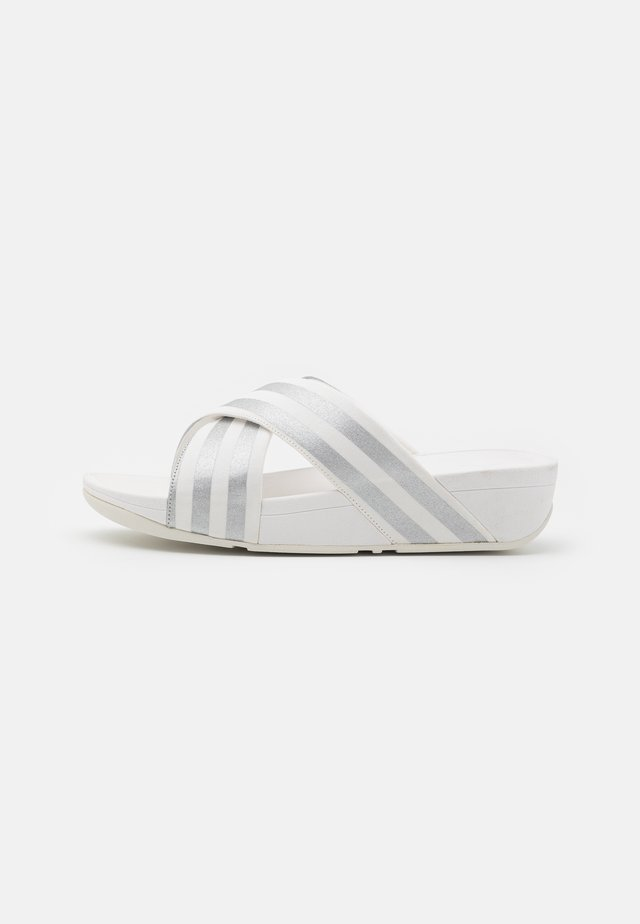 LULU STRIPE SLIDES - Ciabattine - white