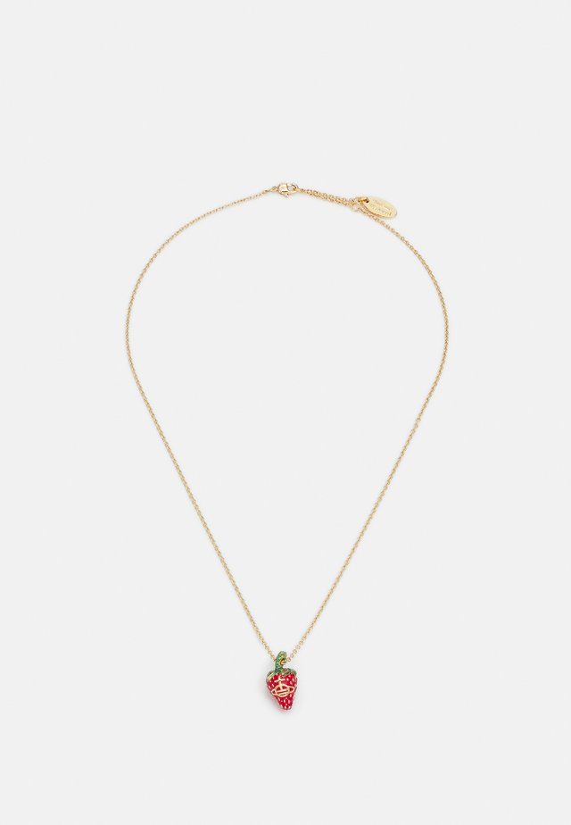 LEONELA PENDANT - Necklace - gold-coloured/olivine red/green