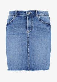 PCAIA SKIRT - Denim skirt - light blue denim