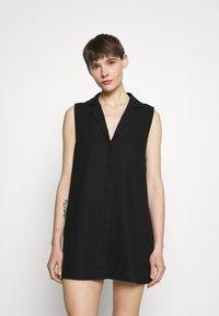 Cotton On - VICKY VEST DRESS - Vestido camisero - black - 0