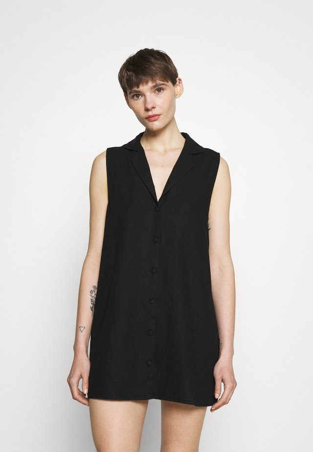 VICKY VEST DRESS - Abito a camicia - black