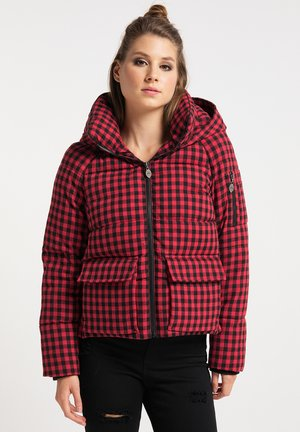 Winter jacket - rot schwarz