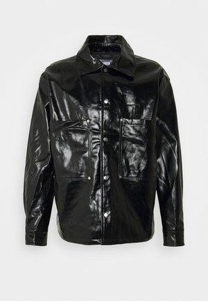 BRYANT PATENT OVERSHIRT UNISEX - Shirt - black