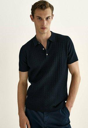 Poloshirt - blue black denim