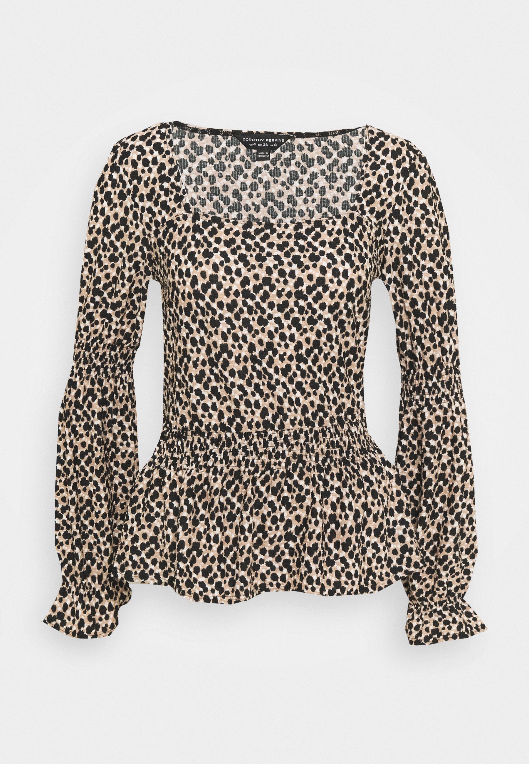 Women ANIMAL SQ NECK FAUCHETTE - Long sleeved top
