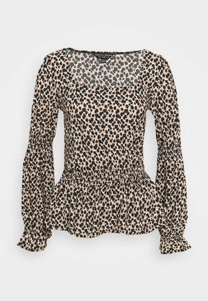 ANIMAL SQ NECK FAUCHETTE - Langærmede T-shirts - multi
