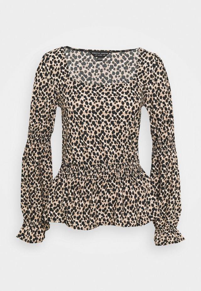 ANIMAL SQ NECK FAUCHETTE - Long sleeved top - multi