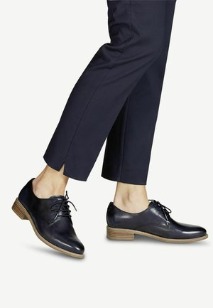 Lace-ups - navy leather