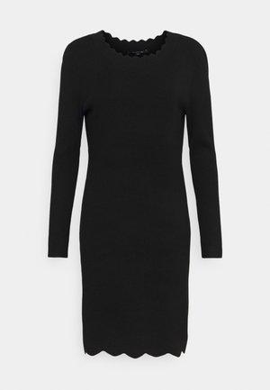 Pletené šaty - black