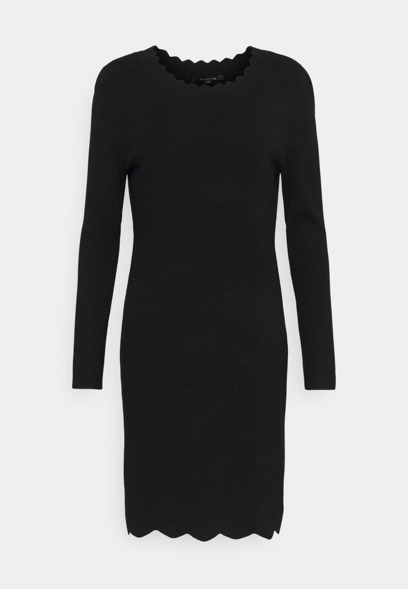 comma - Pletené šaty - black