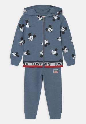 MICKEY MOUSE ZIP UP SET UNISEX - Tracksuit - navy heather
