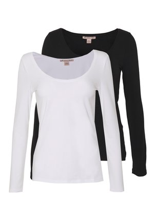 2 PACK - T-shirt à manches longues - black/white