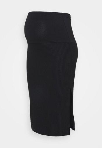 OLMNELLA SPLIT SKIRT  - Spódnica ołówkowa  - black