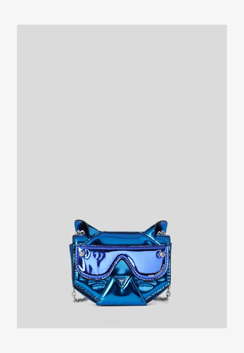 KARL LAGERFELD - CYBER CHOUPETTE  - Taška spříčným popruhem -  blue