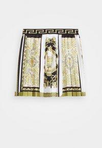 Versace - SKIRT PRINT HERITAGE - Pleated skirt - white/gold/kaki - 0