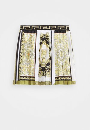 SKIRT PRINT HERITAGE - Pleated skirt - white/gold/kaki