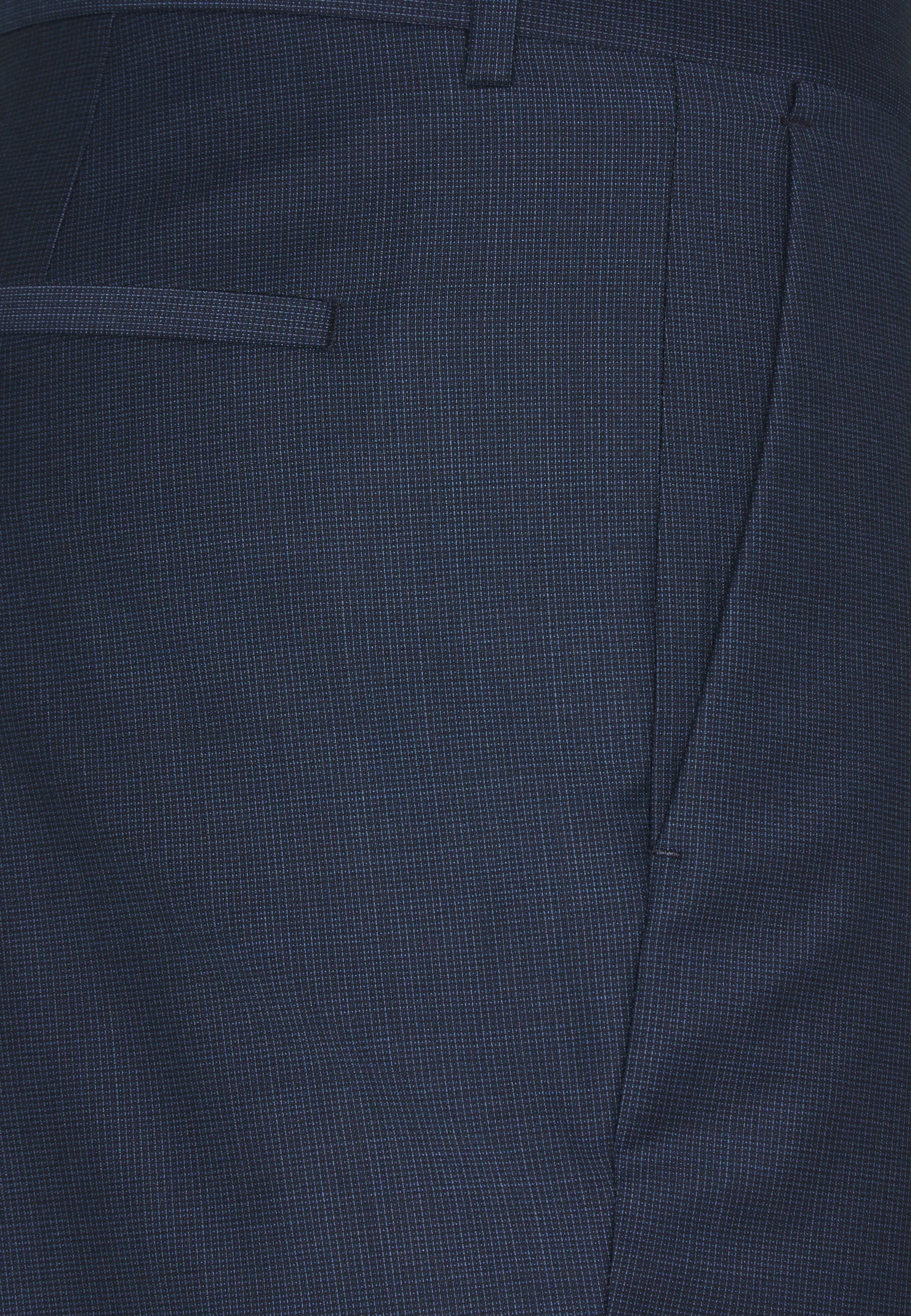 Dernier Vêtements homme Calvin Klein Tailored STRETCH SMALL GRID SUIT Pantalon classique blue EzAIsvJ9