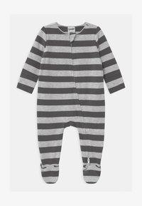 Cotton On - LONG SLEEVE ZIP - Sleep suit - cloud marle/graphite grey - 0