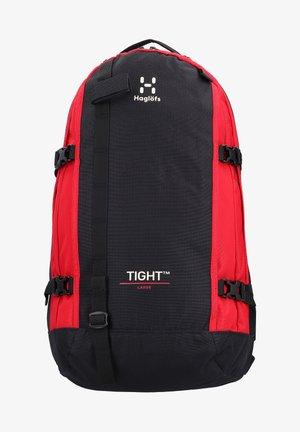 TIGHT - Rucksack - true black/scarlet red