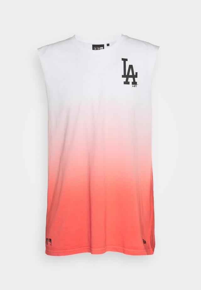 LOS ANGELES DODGERS MLB DIP DYE SLEEVELESS - Club wear - white