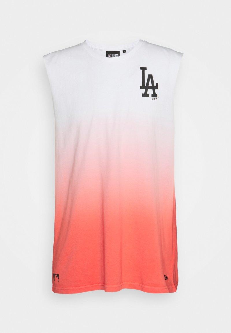 New Era - LOS ANGELES DODGERS MLB DIP DYE SLEEVELESS - Club wear - white