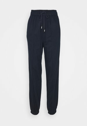 WARM JOGGER DRAWSTRING - Trousers - navy