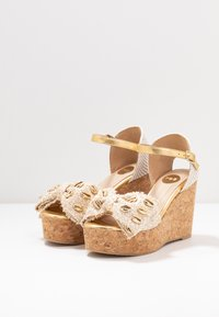 RAS - High heeled sandals - fuffy sand/kiddy gold - 4