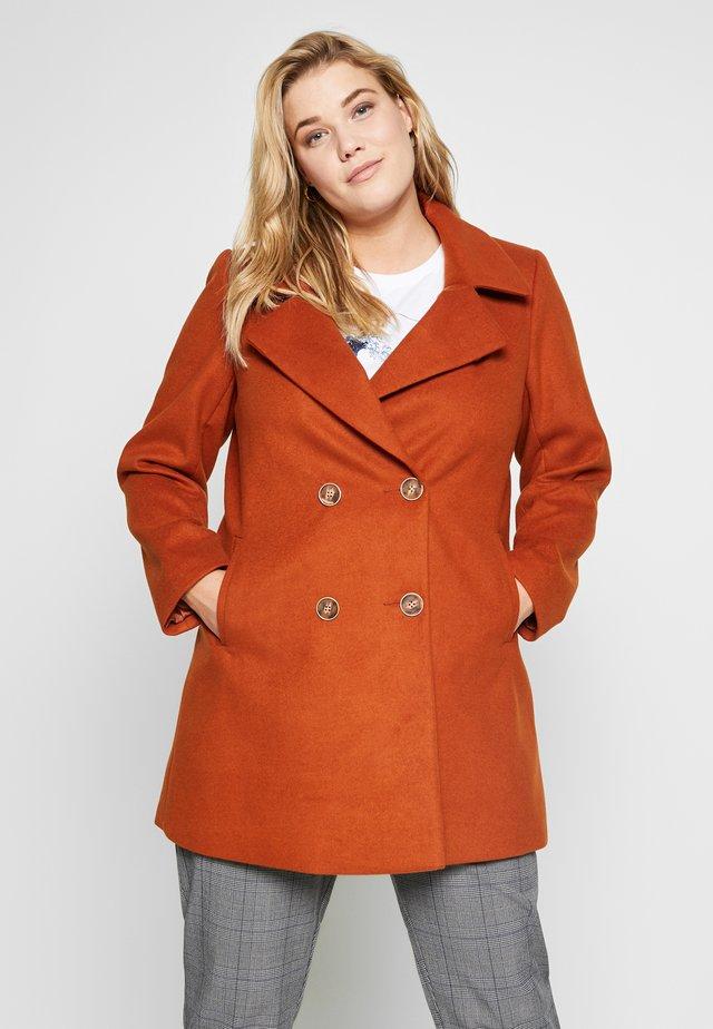 DOUBLE BREASTED COAT - Cappotto corto - rust