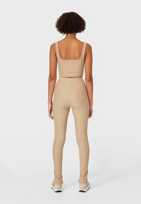 Stradivarius - Leggings - Trousers - brown - 2