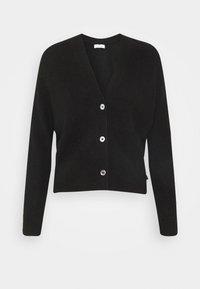 Calvin Klein - SHORT BUTTON UP FLUFFY  - Cardigan - black - 0